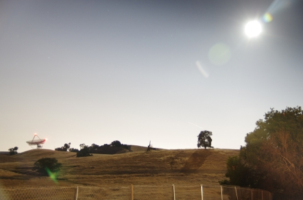 Supermoon Rise over The Dish