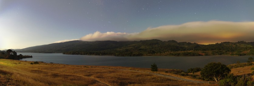 Upper Crystal Springs at Moonrise - Small