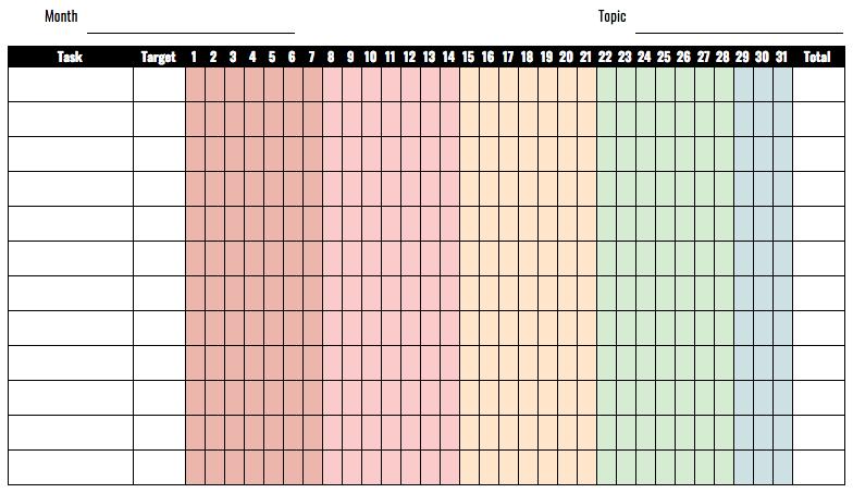 Planner Printable – Monthly HabitTracker